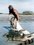 A. Blūmentāls krokodilu medībās