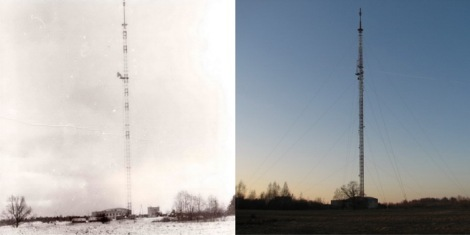 Dundagas radio un TV stacija 80.gadu beigās un 2013. gadā.