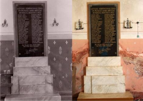 Piemiņas plāksne Dundagas ev. lut. baznīcā