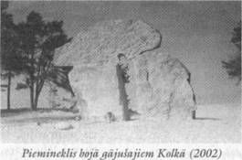 Piemineklis boja gajusajiem Kolkā (2002)