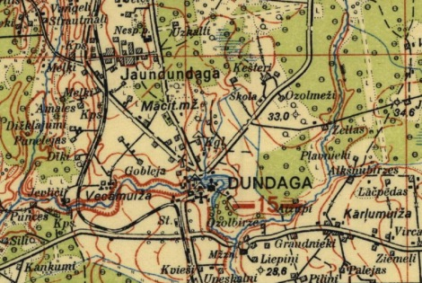 Dundaga un Jaundundaga 1928. gadā