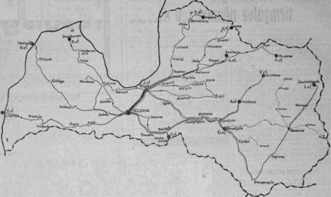 1937. gada Vienības brauciena karte