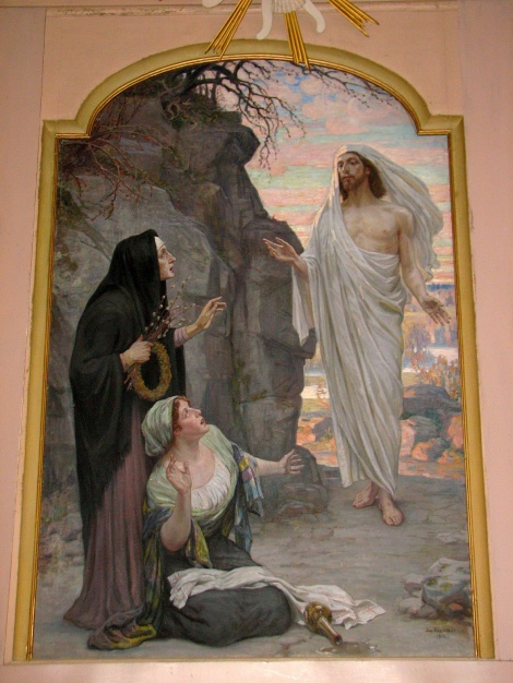 """Jaņa Rozentāla altārglezna """"Lieldienu rīts"""" Dundagas luterāņu baznīcā"""