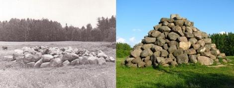 Valpenes piramīda 1985. un 2006. gadā.