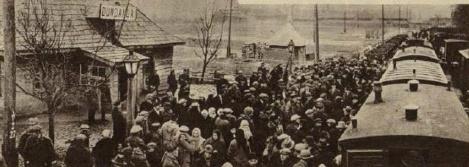Pirmais vilciens pienāk Dundagā, tur to apsveic dundadznieki (Atpūta, 09.03.1934.)