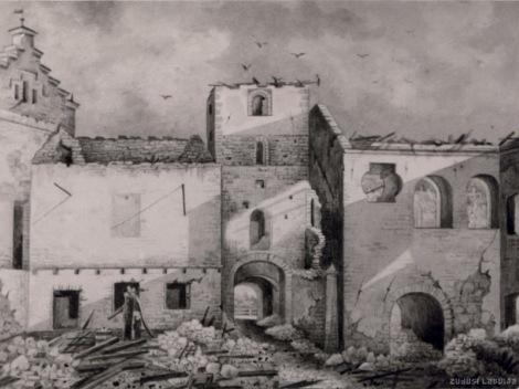 Dundagas pils pēc 1872. gada ugunsgrēka. Avots: http://zudusilatvija.lv